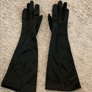 Vintage thin sexy long gloves size 6 women's